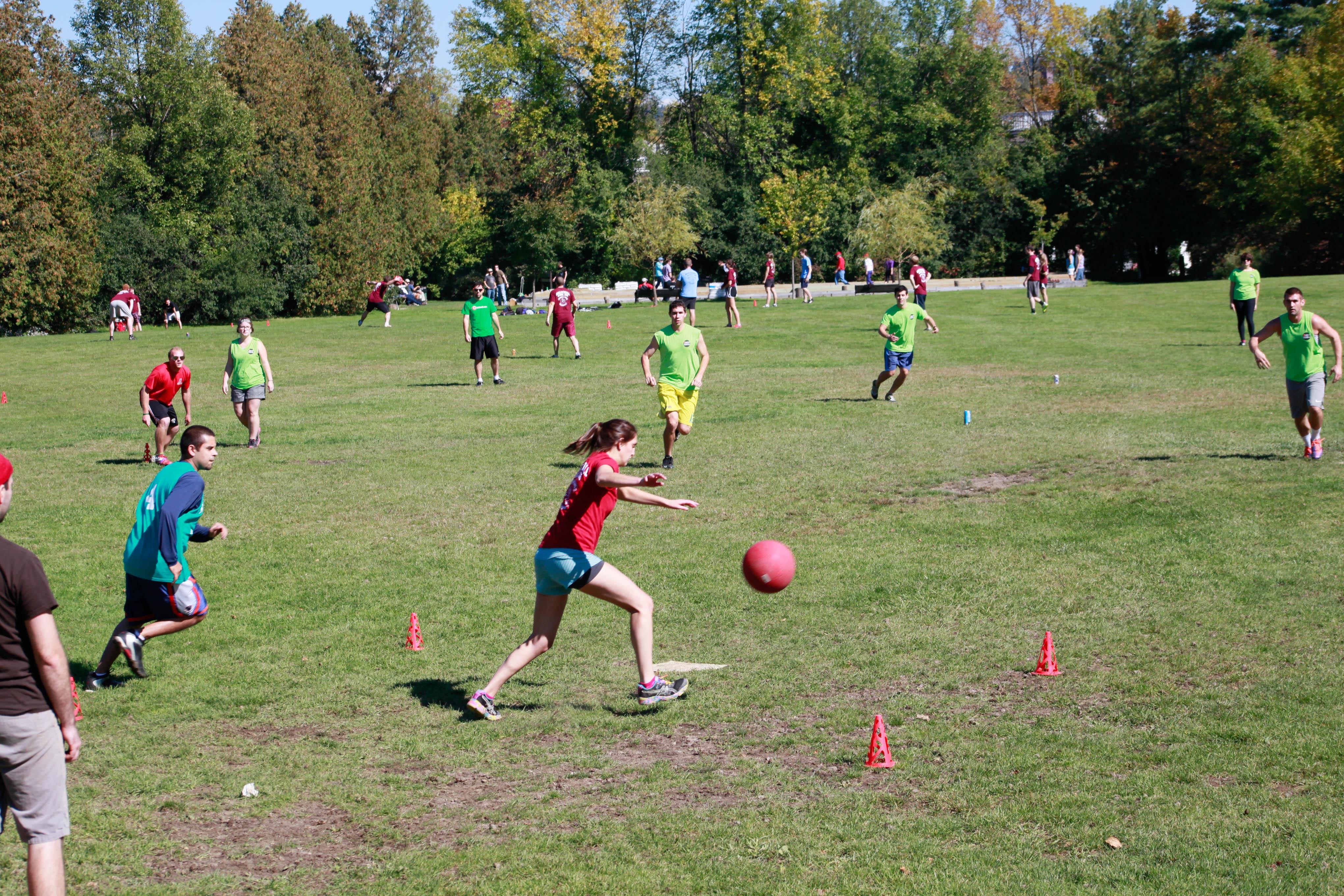 Kids Playing Kickball Teams